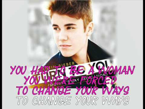 Turn To You ( Mother's Day Dedication ) OFFICIAL KARAOKE - Justin Bieber