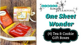 One Sheet Wonder 4 Tea & Cookie Gift Boxes You Will Want to Make Today