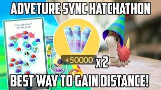 Adventure Sync Hatchathon Guide! Best Way To Gain Distance In Pokemon Go!