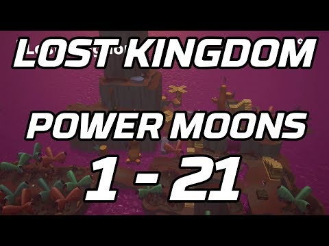 [Super Mario Odyssey] Lost Kingdom Power Moons 1 - 21 Guide