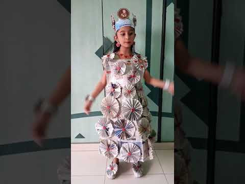 Newspaper dress...Beauty from trash competition..By swara rupani