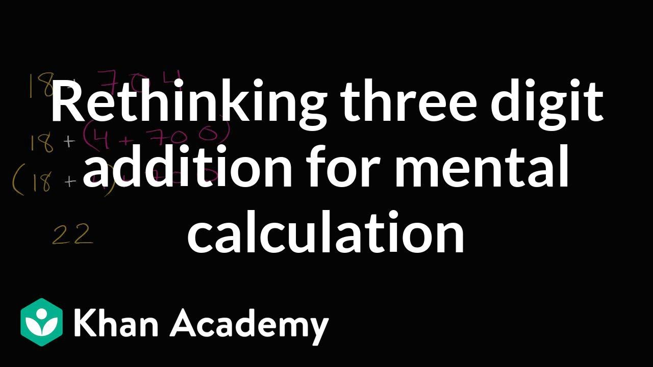 Solving 3-digit addition in your head | 2nd grade | Khan Academy