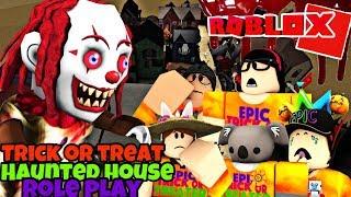 Trick or Treat / Haunted House Rollenspiel | Roblox Bloxburg (WARNUNG: Eigentlich ein bisschen beängstigend)