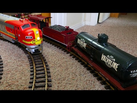 Big Model Trains:  The Valvoline Train