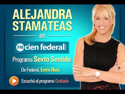 Alejandra Stamateas en el Programa Sexto Sentido