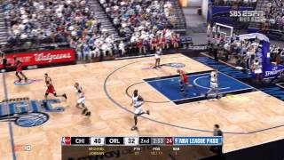 NBA2k13  pc Maximum Setting Chicago Bulls 98 VS Olrado Magic 94