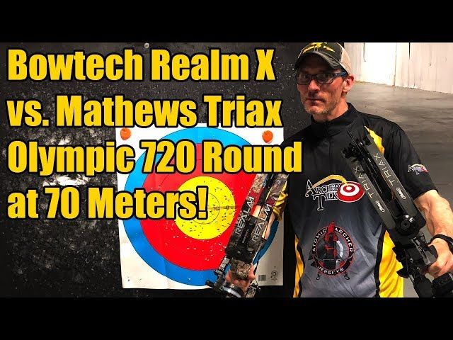 Bowtech Realm X vs  Mathews Triax: Olympic Distance (70 meters) 720 Round -  YoutubeDownload pro