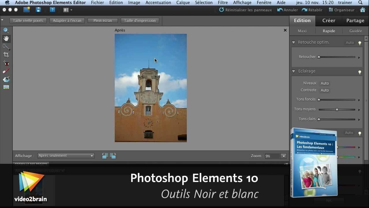 Adobe Photoshop Elements 10 Outils Noir Et Blanc