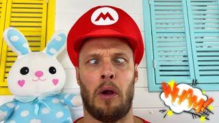 Лев и папа придумали веселые игры друг для друга