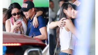 tin tuc sao viet_Vọ chồng Công Vinh - Thủy Tiên ôm hôn nhau cực tình cảm tại sân bay