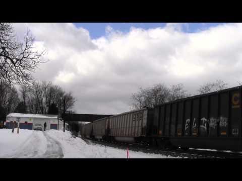 CSX U883 in Hi Def at Shenandoah Junction,WV on 12/15/13