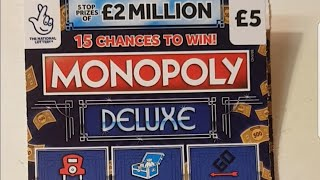Monopoly deluxe scratch cards