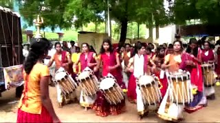 Amazing CHENDA MELAM Performance by Indian Girls