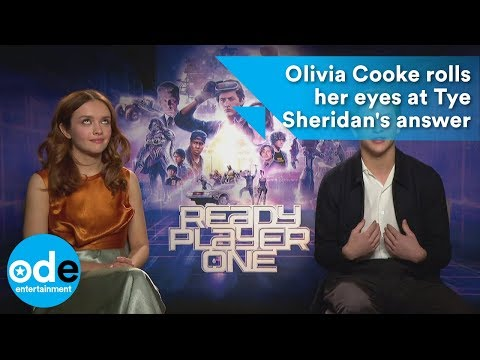 READY PLAYER ONE: Olivia Cooke rolls her eyes at Tye Sheridan's worthy answer