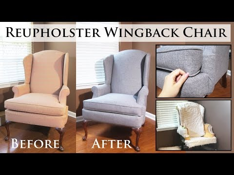 DIY Home Decor: Reupholster Wingback Chair