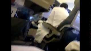 """فيديو / لحظات """"رعب"""" داخل طائرة كويتية!"""