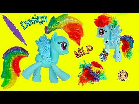 Design A My Little Pony Rainbow Dash Hair Style + MLP POP Spitfire - Toy Video