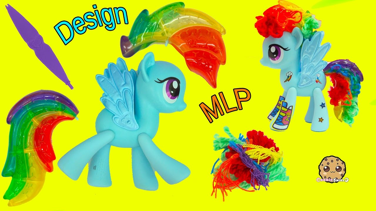 rainbow dash hair style design a my pony rainbow dash hair style mlp pop 6341