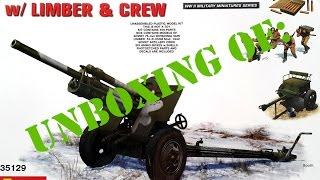 Розпакування: Miniart #35129 УСВ-БР 76мм гармати обр. 1941 Вт екіпажу/передок &