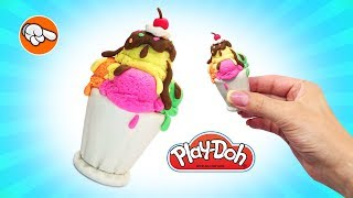 Dolls Food. Play Doh Ice Cream Vase. Play Doh for Kids. Learning Videos for Kids. Easy DIY for Kids