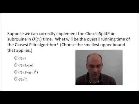 O(n log n) Algorithm for Closest Pair - 1 | Algorithm