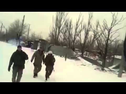 Ukraine war News Today 31.03.2015 Road cyborgs from Donetsk airport to the position