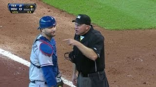 TEX@HOU: Pierzynski ejected after arguing in sixth