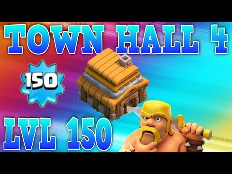 CLASH OF CLANS - TOWN HALL 4 AT (LVL 150)