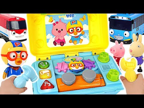 Tayo and Titipo are in danger! GO! Pororo! Help friends with Toolbox! Car repair play #PinkyPopTOY