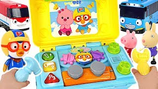 Tayo and Titipo are in danger GO Pororo Help friends with Toolbox Car repair play PinkyPopTOY