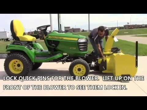 Install Snowblower on John Deere X700 Series 2WD & 4WD Lawn Tractor