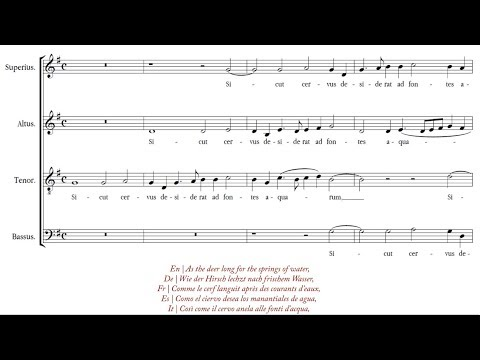 Palestrina | Sicut cervus [á 4; The Cambridge Singers]
