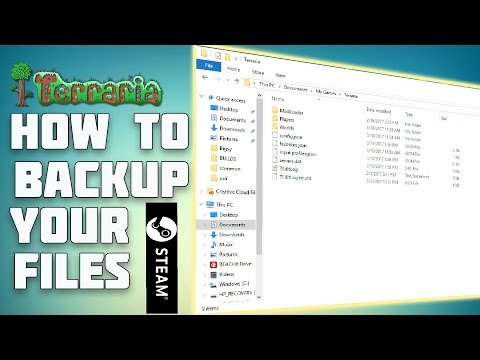How To Backup Your Terraria Worlds And Characters | Steam Version