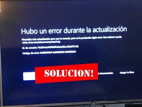 Solucion ERROR EN LA ACTUALIZACION - Xbox One 04/05/2017 100% seguro