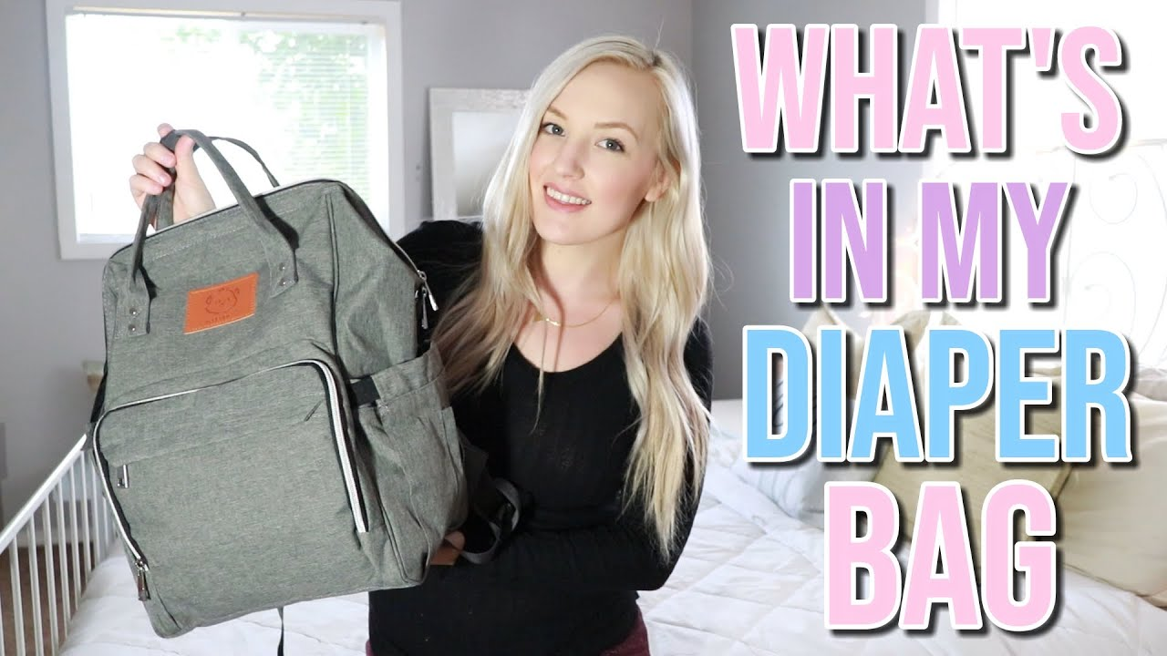 WHATS IN MY DIAPER BAG | NEWBORN AND TODDLER | MOM OF 3 ...