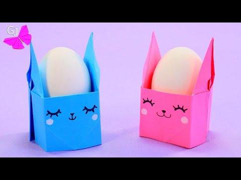Кавайный Кролик / Подставка для яйца / Поделка на Пасху