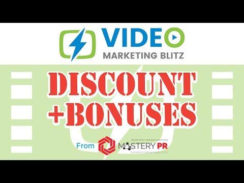 Video Marketing Blitz Bonus From Mastery PR