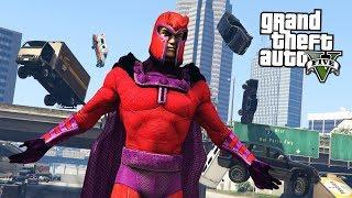 GTA 5 Mods - MAGNETO MOD w/ SPECIAL POWERS!! GTA 5 Magneto Mod! (GTA 5 Mods Gameplay)