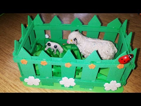How to make beautiful paper Fence decoration for animals