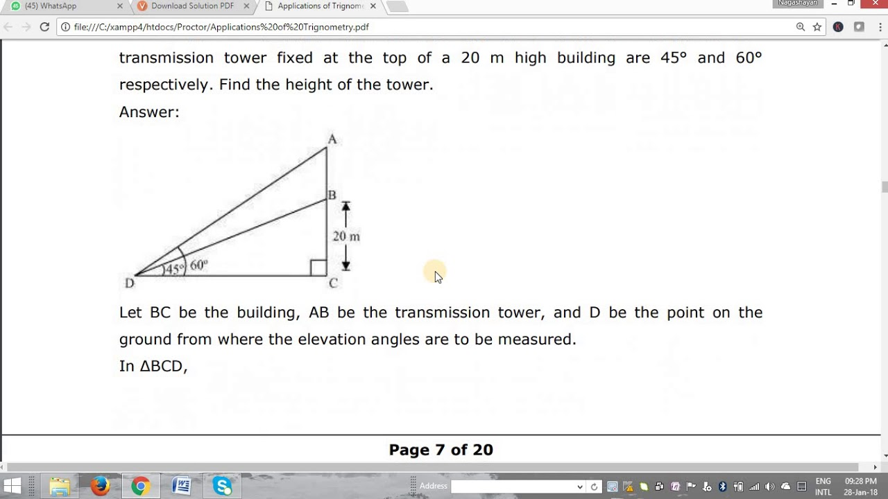 CBSE Th Maths Th Problem YouTube - Find elevation by address