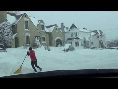 Tour de ville de Sherbrooke après la tempête le 15 mars 2017