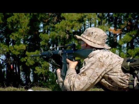 Training at Parris Island Rifle Range