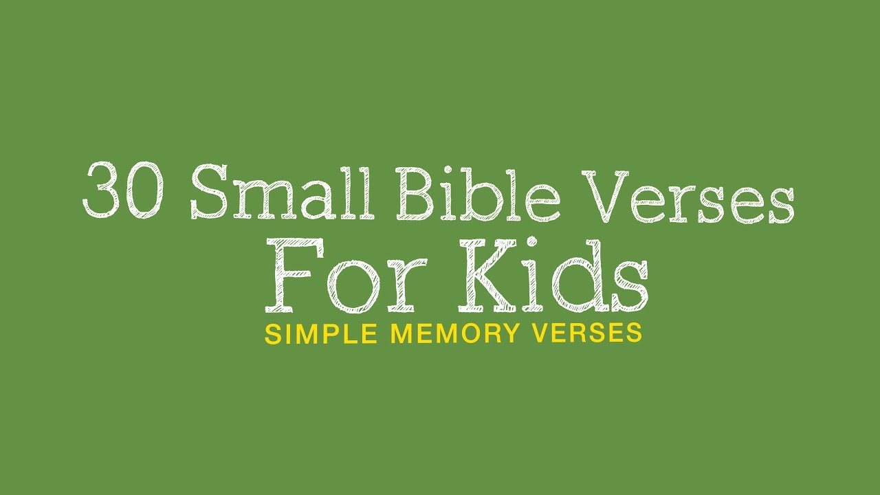 Download 30 SMALL BIBLE VERSES FOR KIDS | EASY LEARNING BIBLE VERSES FOR KIDS | 4K VIDEO