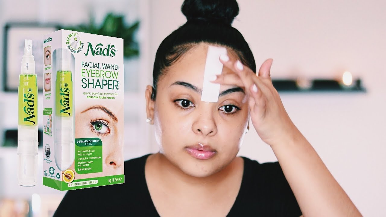 How To Wax At Home Using Nads Facial Wand Youtube