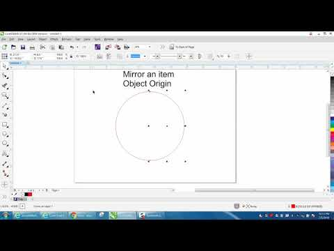 Corel Draw Tips & Tricks Mirror Tool Object Origin
