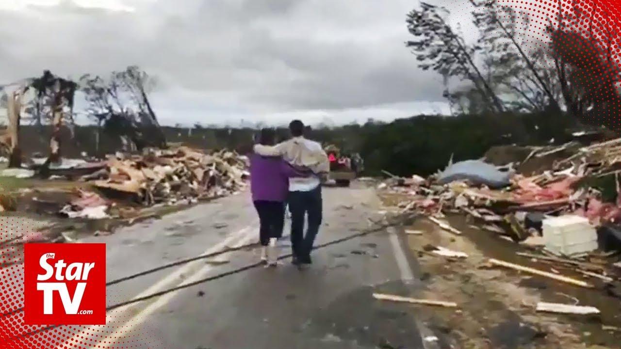 At least fourteen dead in Alabama tornado