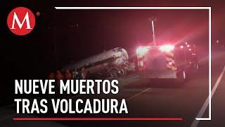 Sube a 9 cifra de muertos tras accidente de pipa en Michoacán