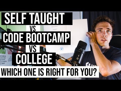 SELF TAUGHT VS BOOTCAMP VS COLLEGE | Which Is Right For You?