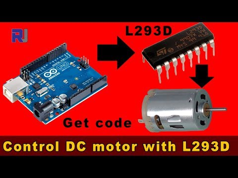 Introduction To L293D And Controlling DC Motor (no Stepper)