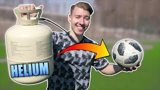 Helium Football EXPERIMENT! - Does It Fly Farther?